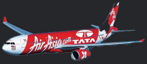 Asia largest low-cost carrier AirAsia on Wednesday announced plans to invest in an airline joint venture with India giant Tata conglomerate and another party.