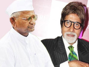 In his fight against corruption, megastar Amitabh Bachchan's character in the upcoming political saga Satyagraha, decides to fast a la real life social activist Anna Hazare.