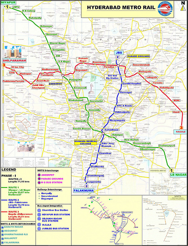 metro rail change route