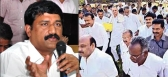 library employees fire on minister ganta srinivasa rao
