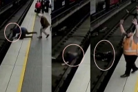 Australian man faints falls on to tracks as train comes in