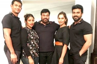 Megastar chiranjeevi pays a surprise visit to ram charan on the sets