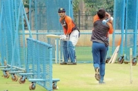 Ms dhoni takes rigorous net session at ncacademy ahead of england tour