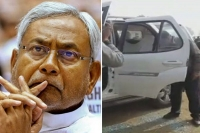 Stones hurled at nitish kumar s cavalcade cm safe