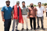 Jr ntr at first day shoot of trivikram movie