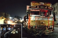 9 people dead on spot in road accident on pune solapur highway
