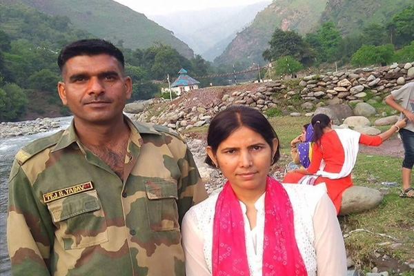 Bsf jawan s wife says tej bahadur yadav is not contactable since monday evening