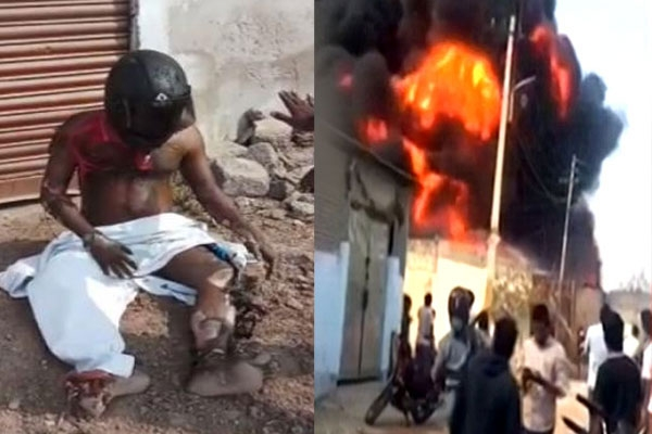 Massive fire accident at medchal industrial area