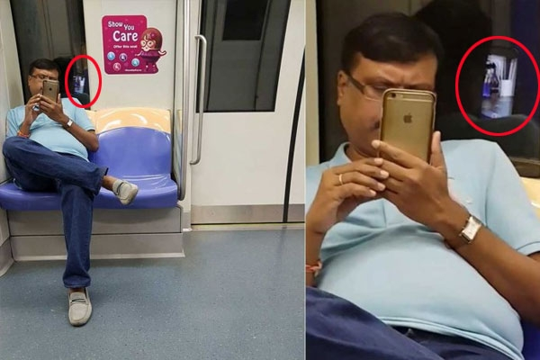 Woman exposes man who secretly filmed her on nel train