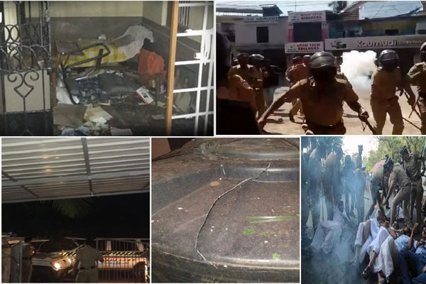 Sabarimala row 20 arrested for hurling bombs at homes of cpm leaders