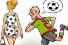funny cartoon of football player
