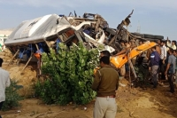 Rajasthan road accident 14 dead after bus collides with truck on nh 11 near bikaner