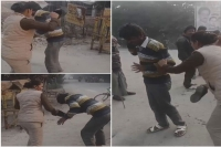 Woman cop beats eve teaser with shoe in kanpur