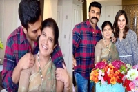 Ram charan, upasana celebrates surekha birthday, adorable moments