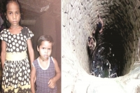 9 year old brave girl jumps into well to save little sister