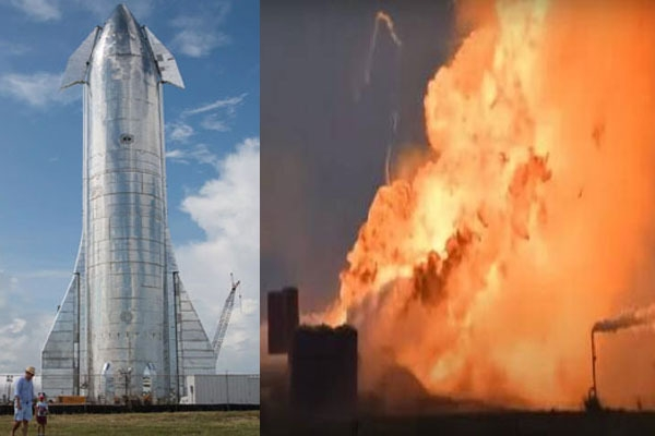 Spacexs starship rocket prototype explodes during test