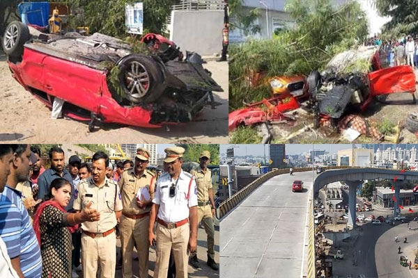 Woman killed as speeding car falls on her from bio diversity flyover in hyderabad