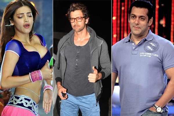 Sruthi hassan accepts hrithik roshan challenge but salman khan not yet given responce