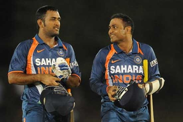 Not ms dhoni its mahendra bahubali for virender sehwag